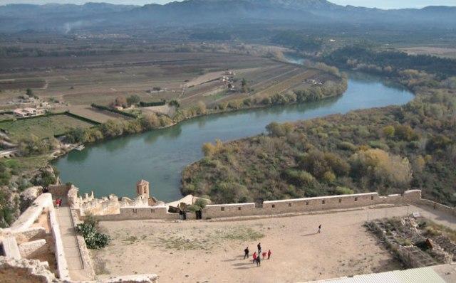 Vistes de l'Ebre des del castell de Miravet