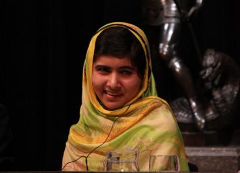Malala, a Barcelona, després de rebre el premi de la Generalitat. Foto: Vilaweb