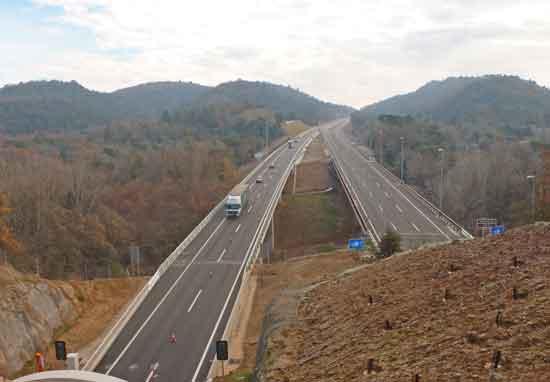 Eix Transversal. Viaducte Font de la Riera