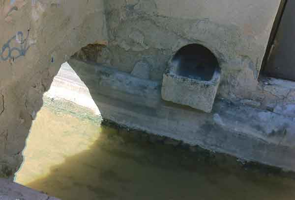 El Rec. Canaló d'aigua. Igualada