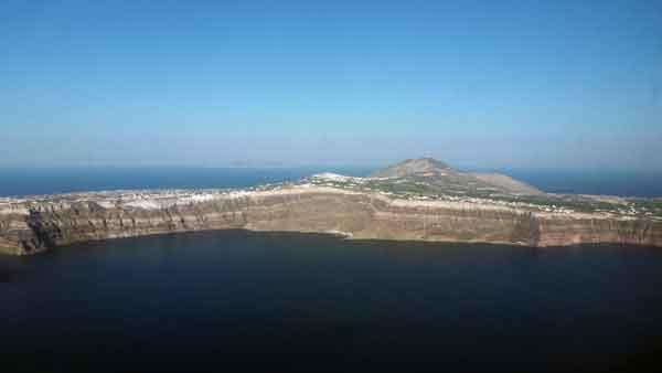 Santorini des de l'aire