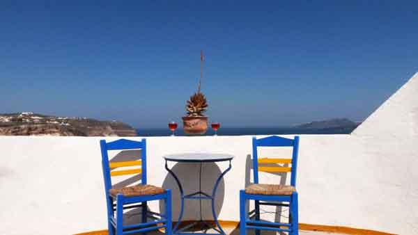 La típica imatge de les illes gregues
