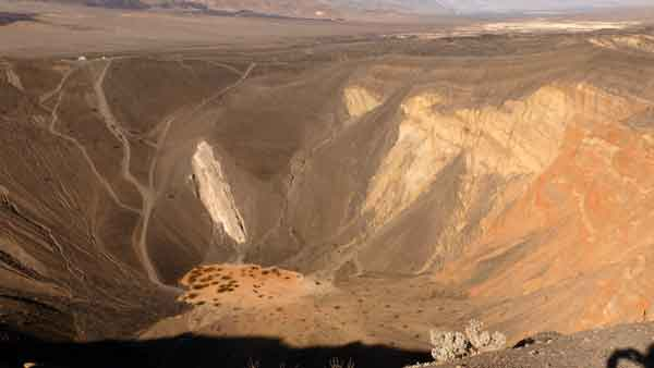 Death Valley. Ubehebe crater