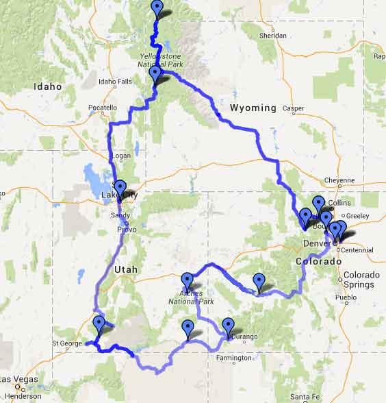 Ruta circular des de Denver