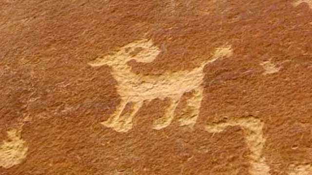 Mesa Verde. Petroglif