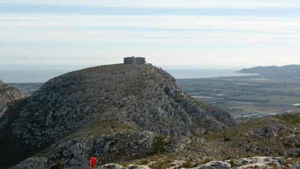 Castell de Montgrí des del Puig Rodó
