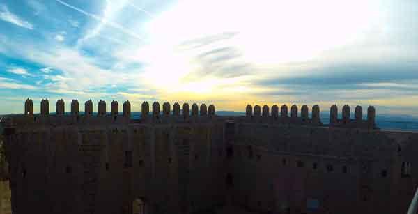 Posta de sol des del castell de Montgrí