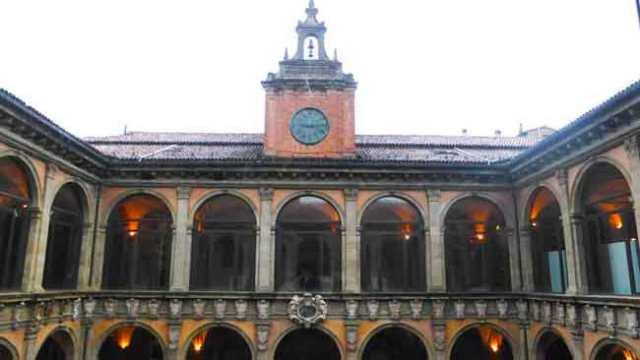 Palazzo Archiginnasio. Bolonya
