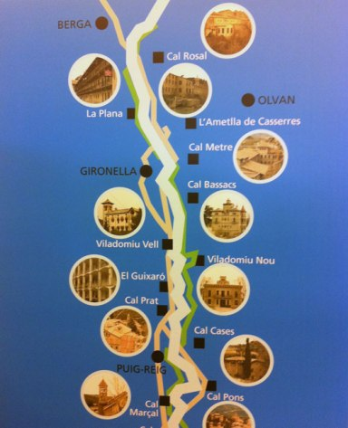 Ruta Colònies Llobregat des de CAl Rosal fins a Puig-reig