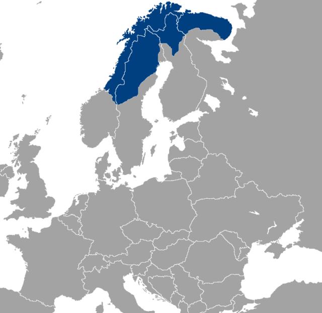 Lapònia map