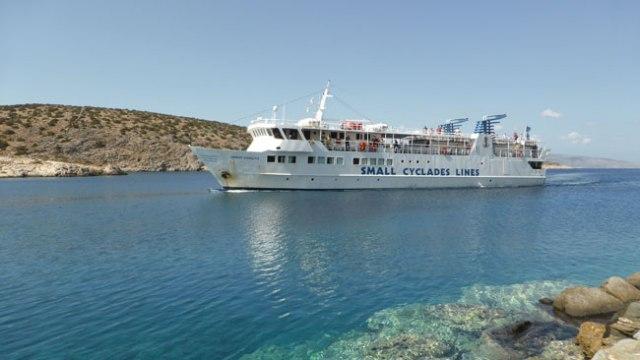 EL petit ferri Skopelitis comunica les petites Cíclades