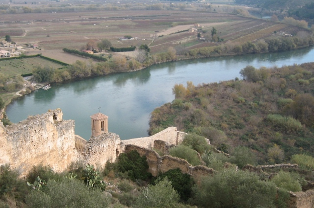 Riu Ebre des del castell de Miravet