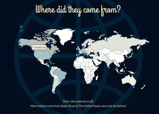 Països que han visitat el blog http://gloriacondal.com