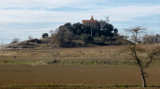 Turó amb l'ermita de Sant Jordi de Puigseslloses