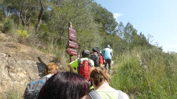 Pas de Barrufemes, a mig camí entre Benifallet i Miravet