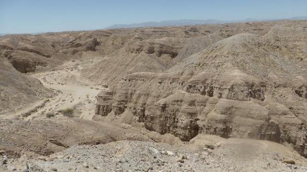 Desert Anza Borrego. Badlands (xaragalls)