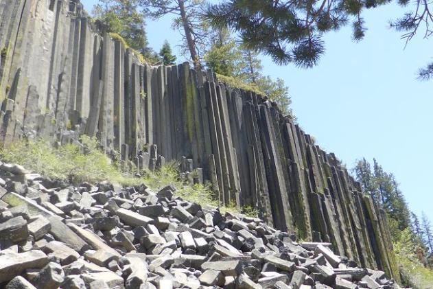 Devils Postpile. Mammoth. california