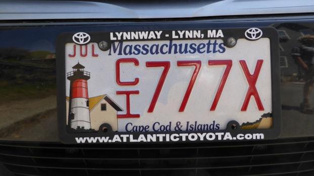 Matrícula de cotxe Massachusetts on posa clarament l'estat i és divertida, com totes les dels Estats Units