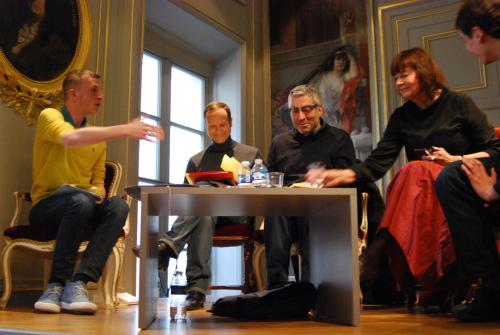 Edouard Louis, Frédéric Lordon, Didier Eribon, Arlette Farge, Geoffroy de Lagasnerie ( PUF, 2013 )