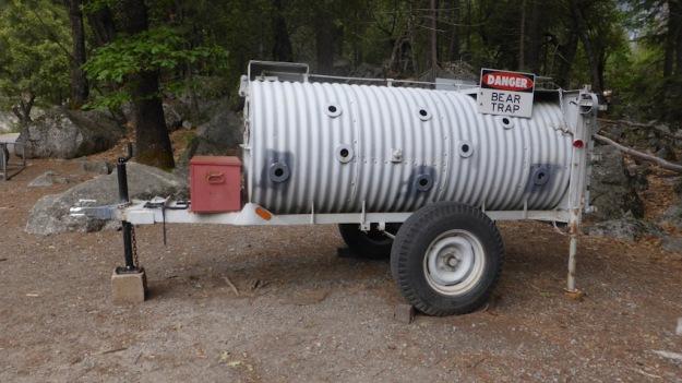 Yosemite. Mirror Lake Trail. Bears trap