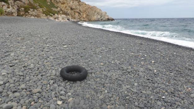 Illa de Xios. Flotador abandonar