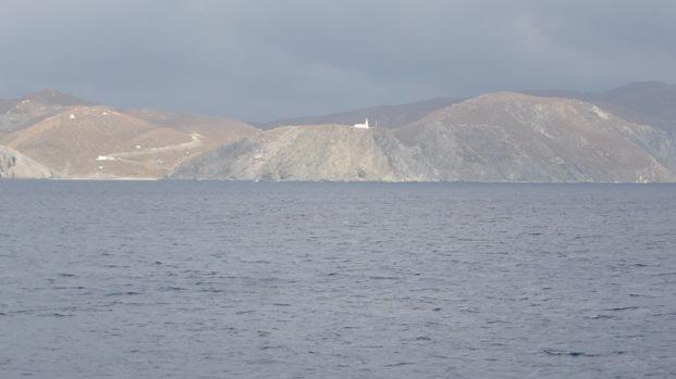 Illa de Psarà. Far Kokkinopoulo