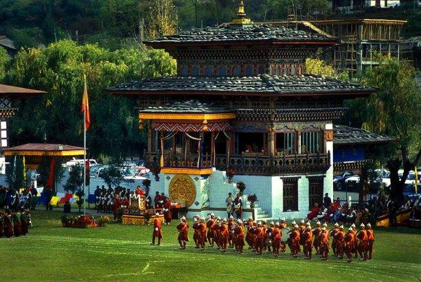 Tir a l'arc, un esport molt popular a Bhutan. (viquipedia.org)