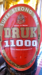 Druk 11000, la cervesa local de Bhutan