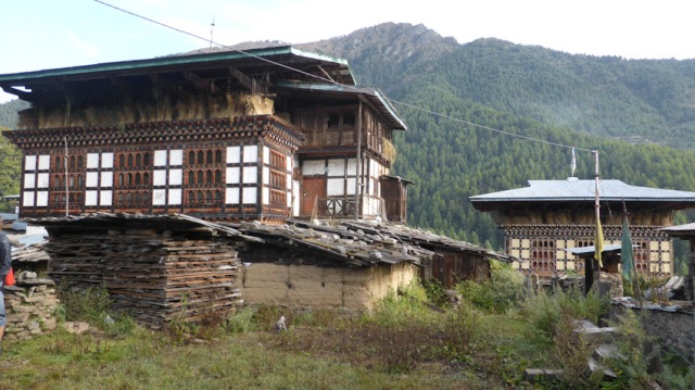Rural houses, Haa Valley, Bhutan