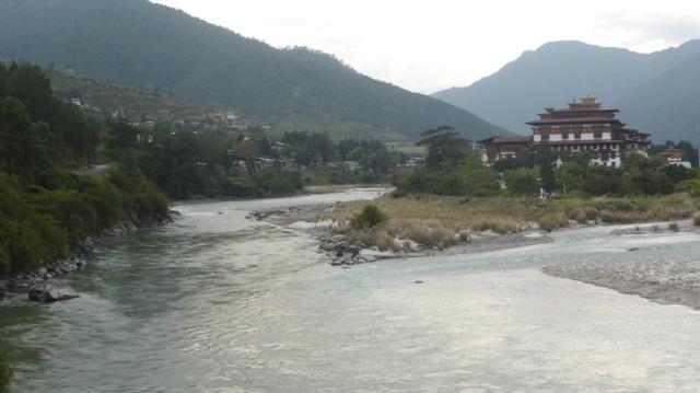 Punahka Dzong Bhutan. Rivers Mho & Pho