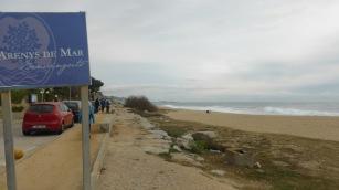 Arenys de Mar. Inici terme municipal. AL fons, el port. Foto:gloriacondal