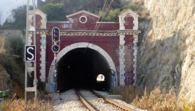 Train tunnel. Sr Pol Mar, Maresme