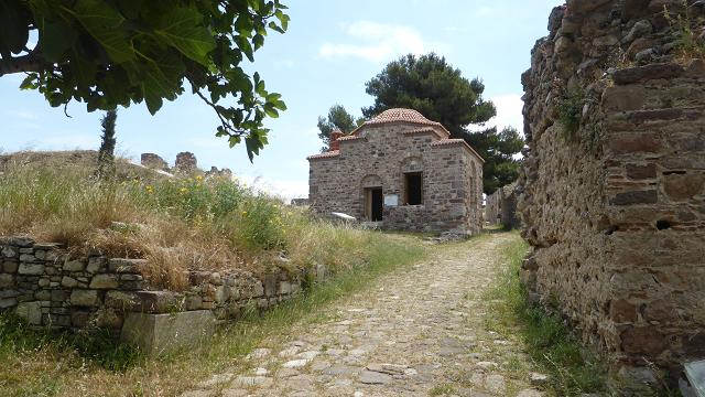 Mitilene castle. Teke. 1922 refugees