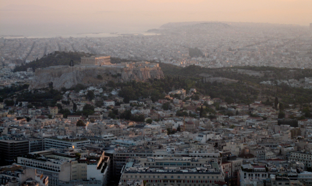 Acropolis atenes desde Licabet