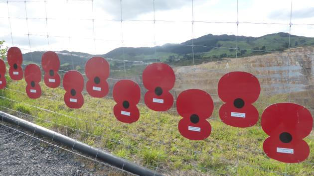 Waihi. Homenatge morts guerra