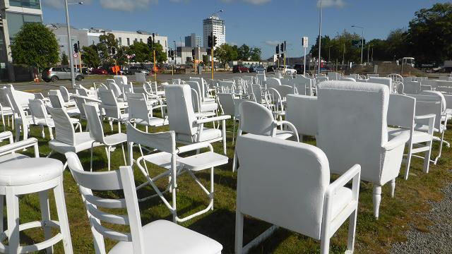 185 seients blancs buits. Nova Zelanda