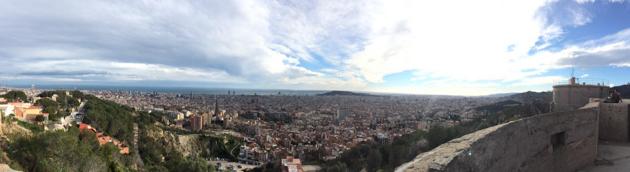 Barcelona des del turó de la Rovira