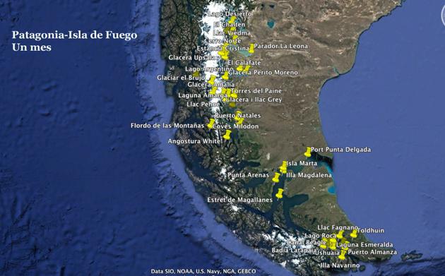 Patagonia-illa foc