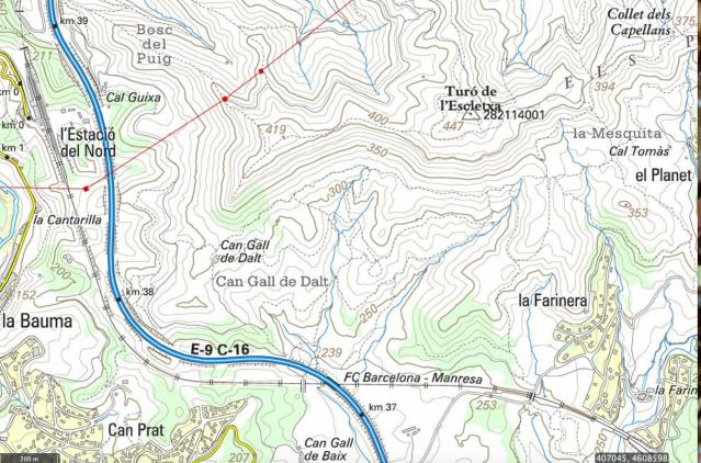 mapa escletxa