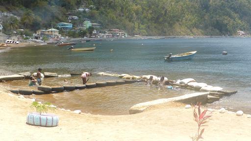 Bubble spa beach. Dominica