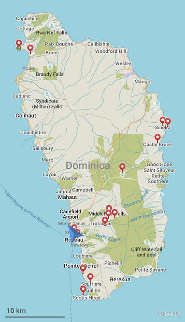 map dominica