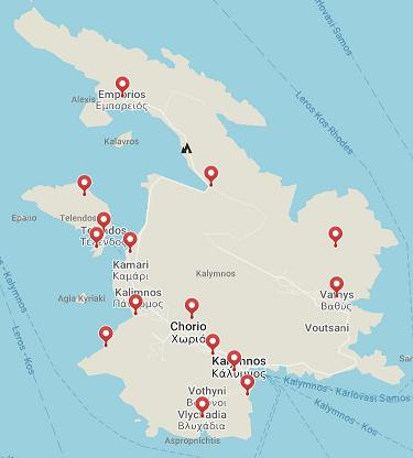 map kalimnos