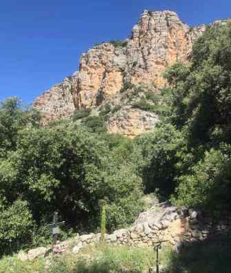 Cementiri d'Herba-savina, sota la Roca de Pessonada. Foto:gloriacondal
