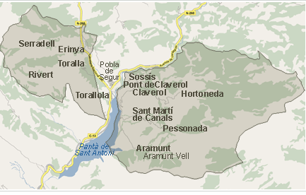 mapa conca dalt
